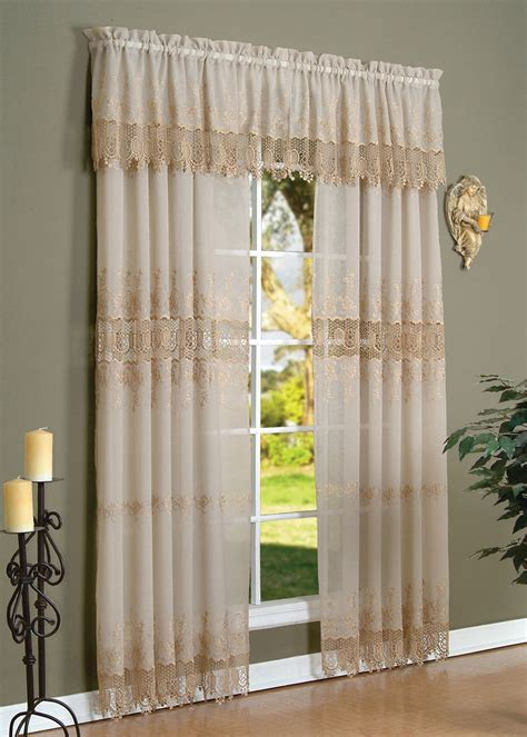 Anna Maria Macrame Embroidered Curtain Panel   Curtain