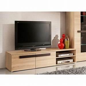 Meuble Chene Clair : finlandek meuble tv nuori 159cm d cor ch ne clair et weng ~ Edinachiropracticcenter.com Idées de Décoration