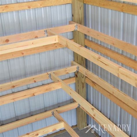 Shop Storage Shelves by Diy Corner Shelves For Garage Or Pole Barn Storage Diy