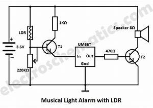 um66 projects circuits With musical bell circuit diagram