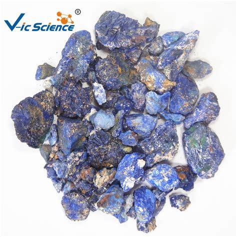 ตัวอย่างหิน Lapis Lazuli เชิงพาณิชย์และตัวอย่างแร่ทองคำสีเขียว