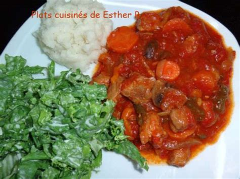 recettes plats cuisin駸 recettes d 39 africain de les plats cuisinés de esther b
