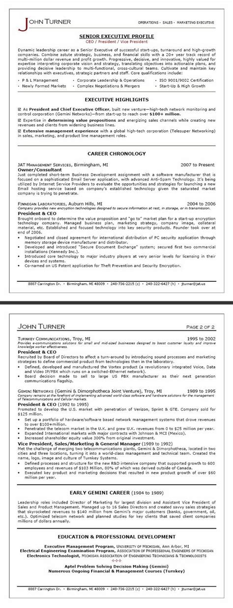 Writers Resume Template by Executive Resume Package Resume Writing Services