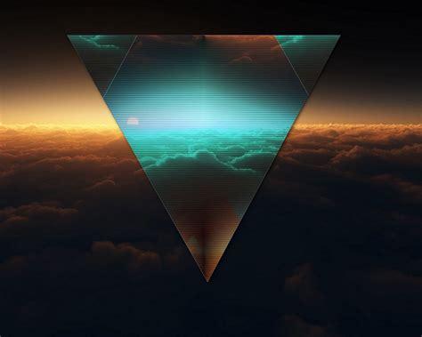 Скачать 1280x1024 Треугольник, форма, темный, фигурка обои