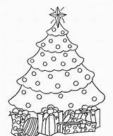 Coloring Christmas Tree Pages Backgrounds Desktop sketch template