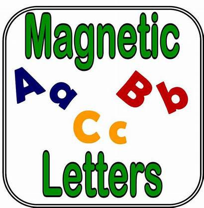 Magnetic Clipart Letters Clip Magnet Magnetized Magnets