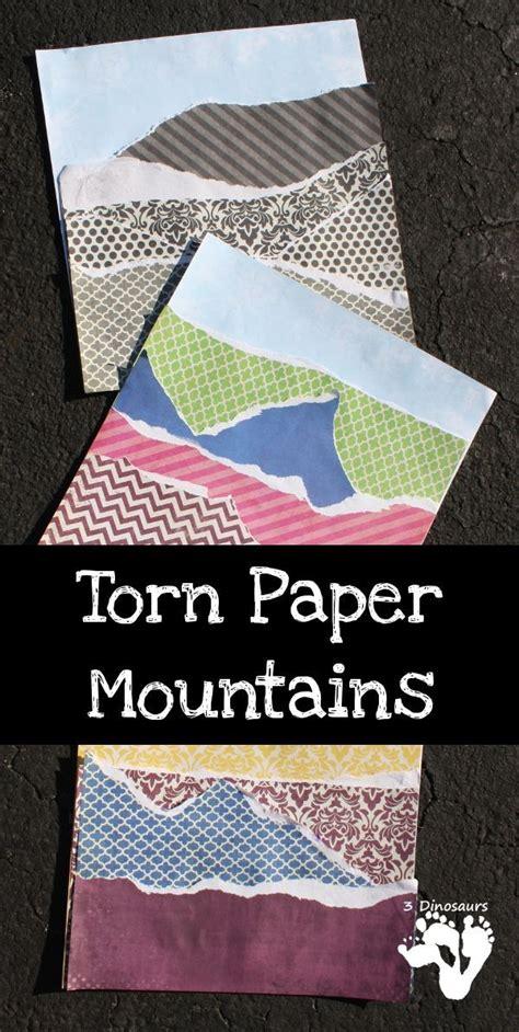 torn paper mountains teaching preschool mountain 188 | bedaa0c2c76e127f57affc073c69f7bc