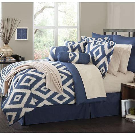 piece comforter set durham navy blue soutwest ensemble