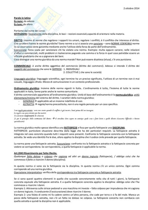 Dispensa Diritto Commerciale by Lezioni Appunti Di Diritto Privato E Commerciale