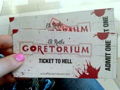 hell s kitchen tickets tickets to hell picture of eli roth s goretorium las