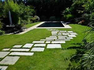pas japonais allee de jardin contemporain beton With wonderful decoration mur exterieur jardin 2 amenagement jardin contemporain jardin autres