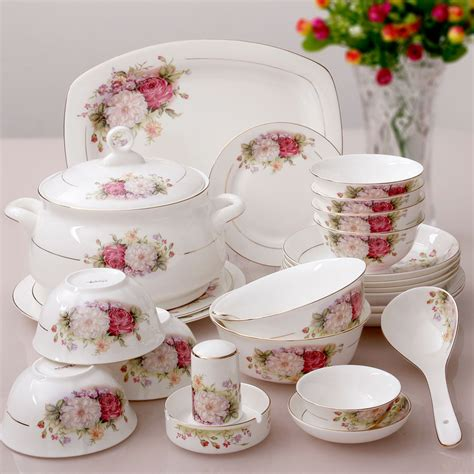 china dinnerware bone sets porcelain chinese bowl bowls quality plate square pieces kupper