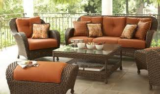 Hampton Bay Kampar Patio Furniture Replacement Cushions by Martha Stewart Palm Cove
