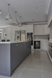 Marvelous, Grey, And, White, Kitchen, Style24
