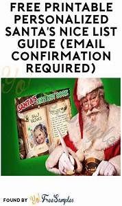Free Printable Personalized Santa U0026 39 S Nice List Guide  Email