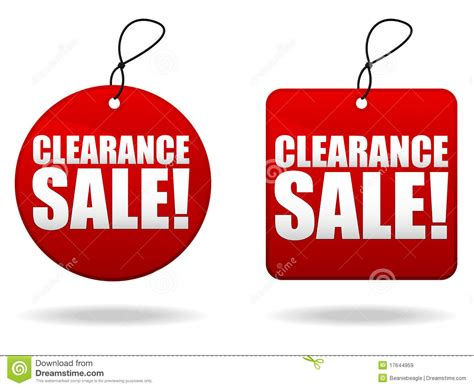Clearance Sale Tags Stock Vector Illustration Of