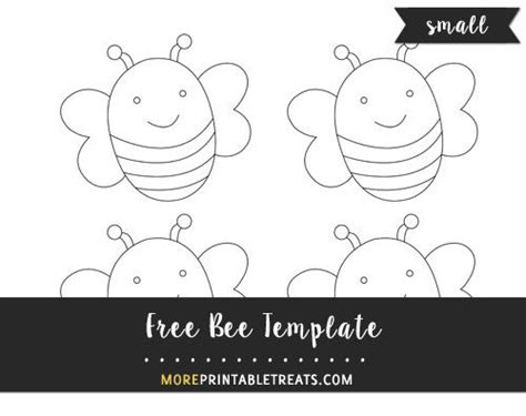 bee template small size bee template bee