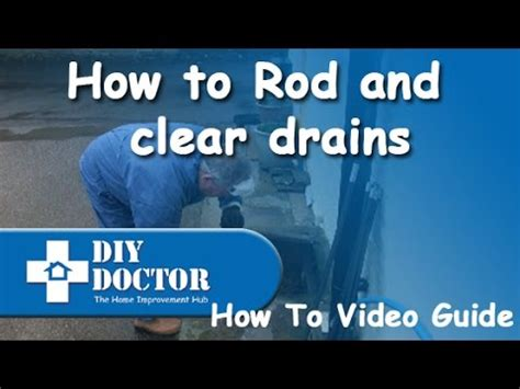 rodding  clearing blocked drains youtube