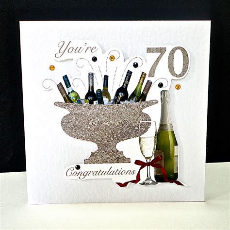 celebration bottles 70th birthday card decorque cards
