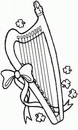 Pages Coloring St Patrick Lyre Printable Patricks Holiday Harp Sheets Sheet Colouring Activity Season Printables sketch template
