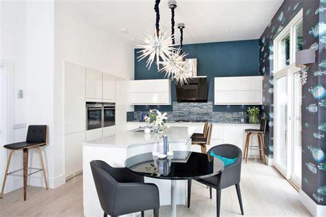 peinture cuisine bleu couleur pour cuisine 105 idées de peinture murale et façade