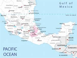1  Map Showing The State Of Puebla  Maps Of Mexico 2012
