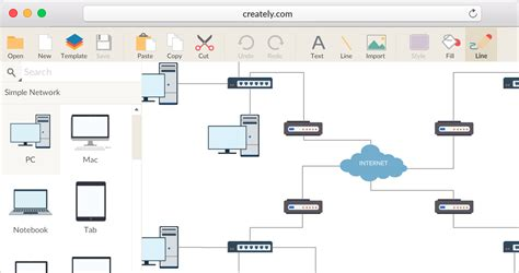 network diagram software  quickly draw network diagrams
