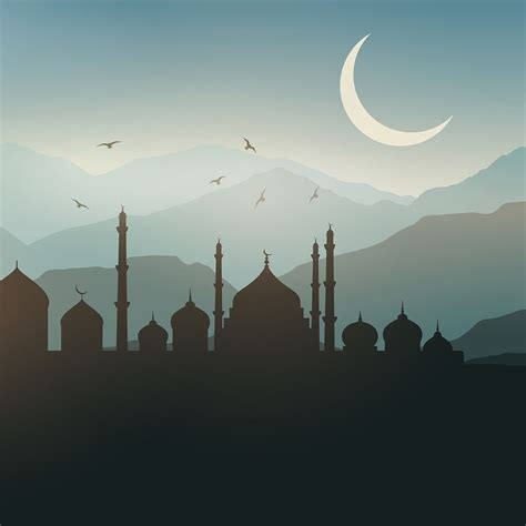 ramadan landscape background   vectors
