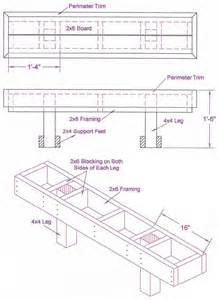 High Top Patio Table Plans by Benches Wood Deck Bench Plan Diy Deck Plans
