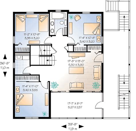 harmonious vacation cabin floor plans family vacation home plan 2164dr 2nd floor master