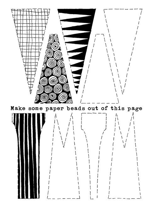 paper bead template paper craftfoxes