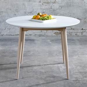 Table Ronde Rabattable : table extensible ronde rabattable meuble de salon contemporain ~ Melissatoandfro.com Idées de Décoration