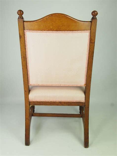 Oak Armchair edwardian oak armchair for recovering set 4 available