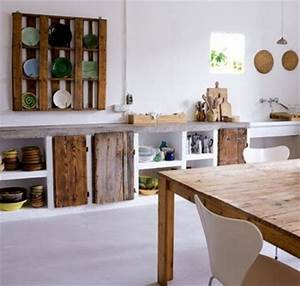 pallet kitchen furniture diy projects pallet furniture With what kind of paint to use on kitchen cabinets for recycled wood wall art