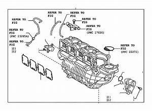 2012 Toyota Sienna Engine Intake Manifold  Exhaust