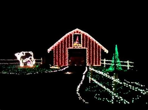 mike s farm christmas lights hayride 2011 youtube
