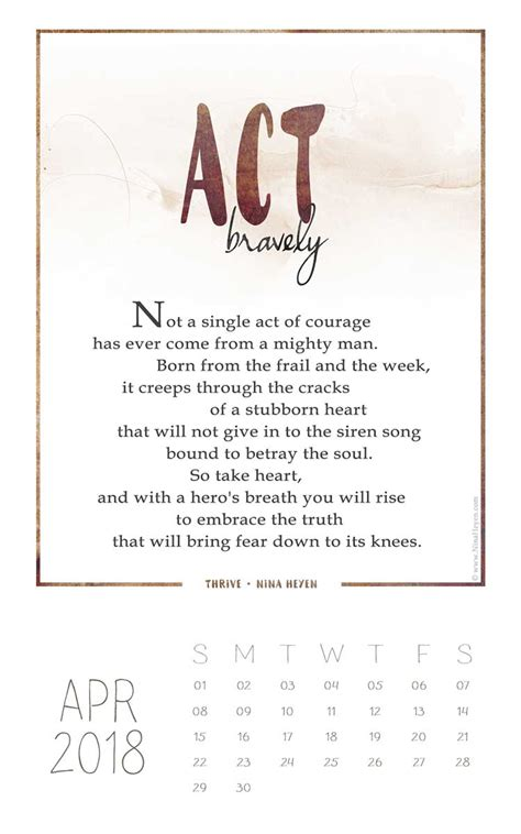 act bravely  poem   thrive collection nina heyen