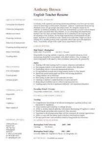 resume exles for free download 100 original resume format for fresher teachers india
