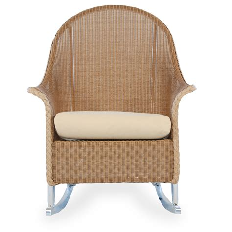lloyd flanders high back wicker lounge rocking chair 8036