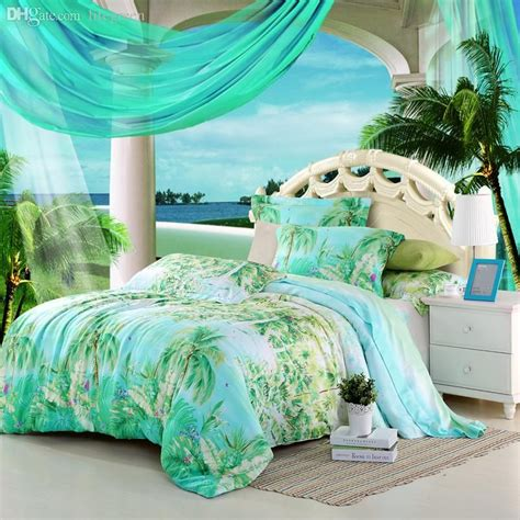 wholesale blue green turquoise bedding sets queen king