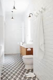 look down bathroom floor tiles