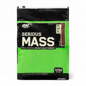 Optimum Nutrition Serious Mass  Chocolate 12 Lbs Protein Powder Gain Muscle Mass