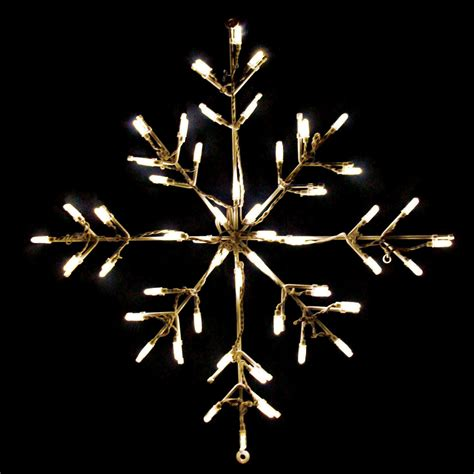 24 in outdoor led warm white snowflake lighted display 50 bulbs outdoor light displays at - Lighted Snowflakes Outdoor