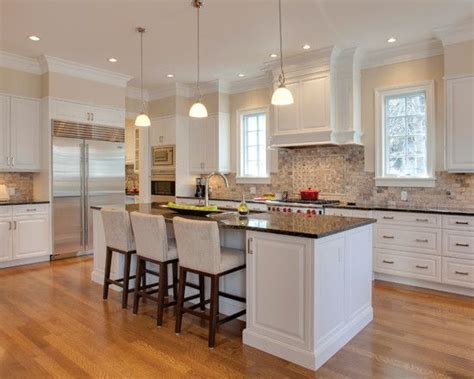 white kitchen  brown granite countertops google