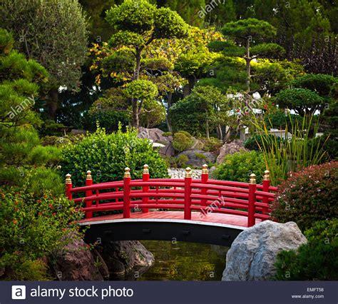 Japanischer Garten Monte Carlo by Rote Japanische Br 252 Cke Stockfotos Rote Japanische Br 252 Cke