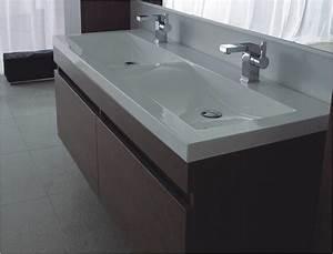Mineralguss Waschbecken Reinigen : mineralguss aufsatz doppel waschbecken 1200x500x50 mm ~ Lizthompson.info Haus und Dekorationen