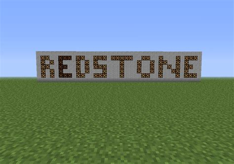redstone un flashing text minecraft project