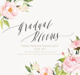 islamic wedding invitation wording watercolor flower clip gradual blooms individual png