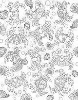 Coloring Colorit Crab Drawing Collage Sheets sketch template