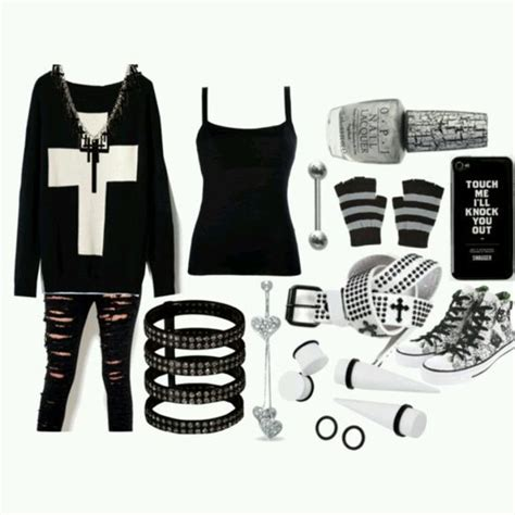 Best 25+ Emo clothes for girls ideas on Pinterest | Outfits for rock concert Punk rock outfits ...